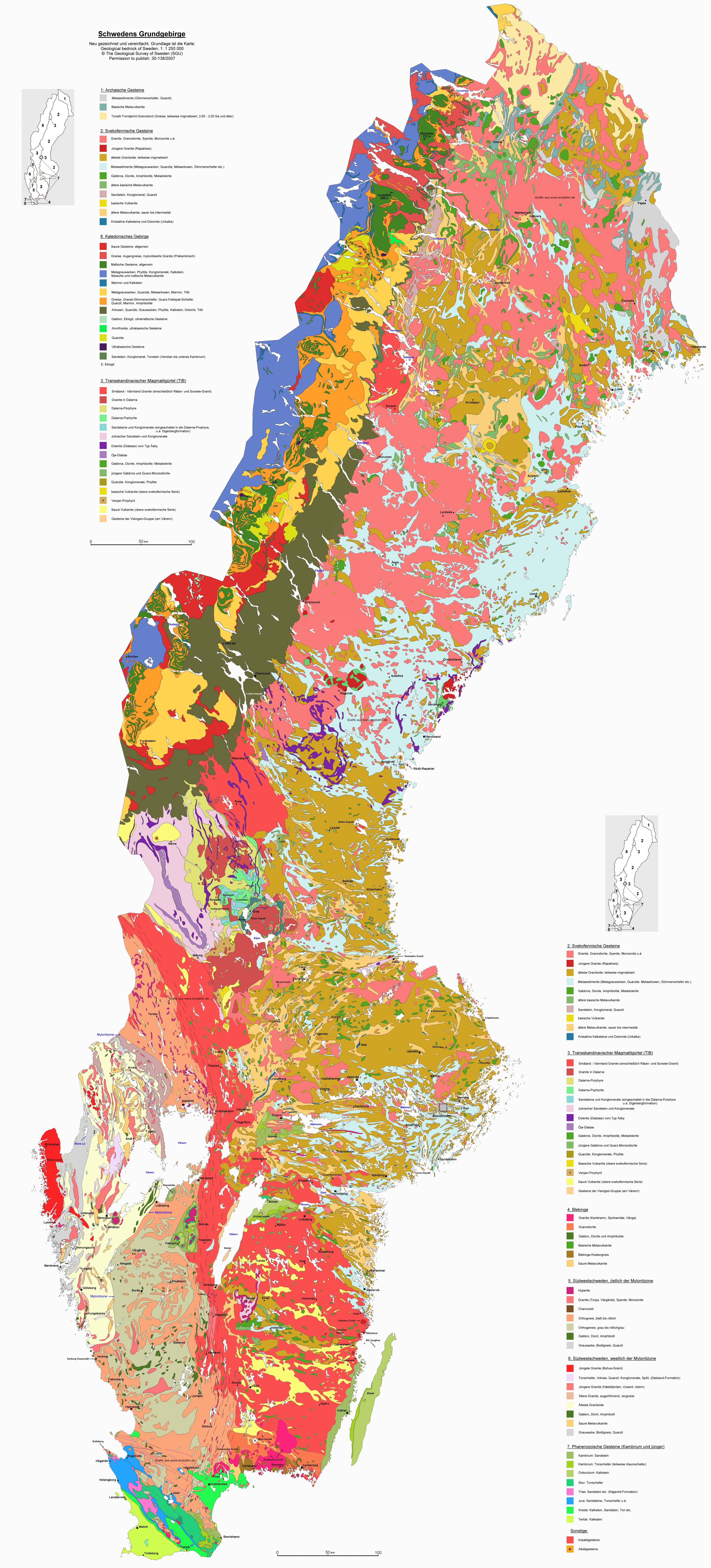 Geological Map Sweden Map Of Geological Map Northern Europe Europe