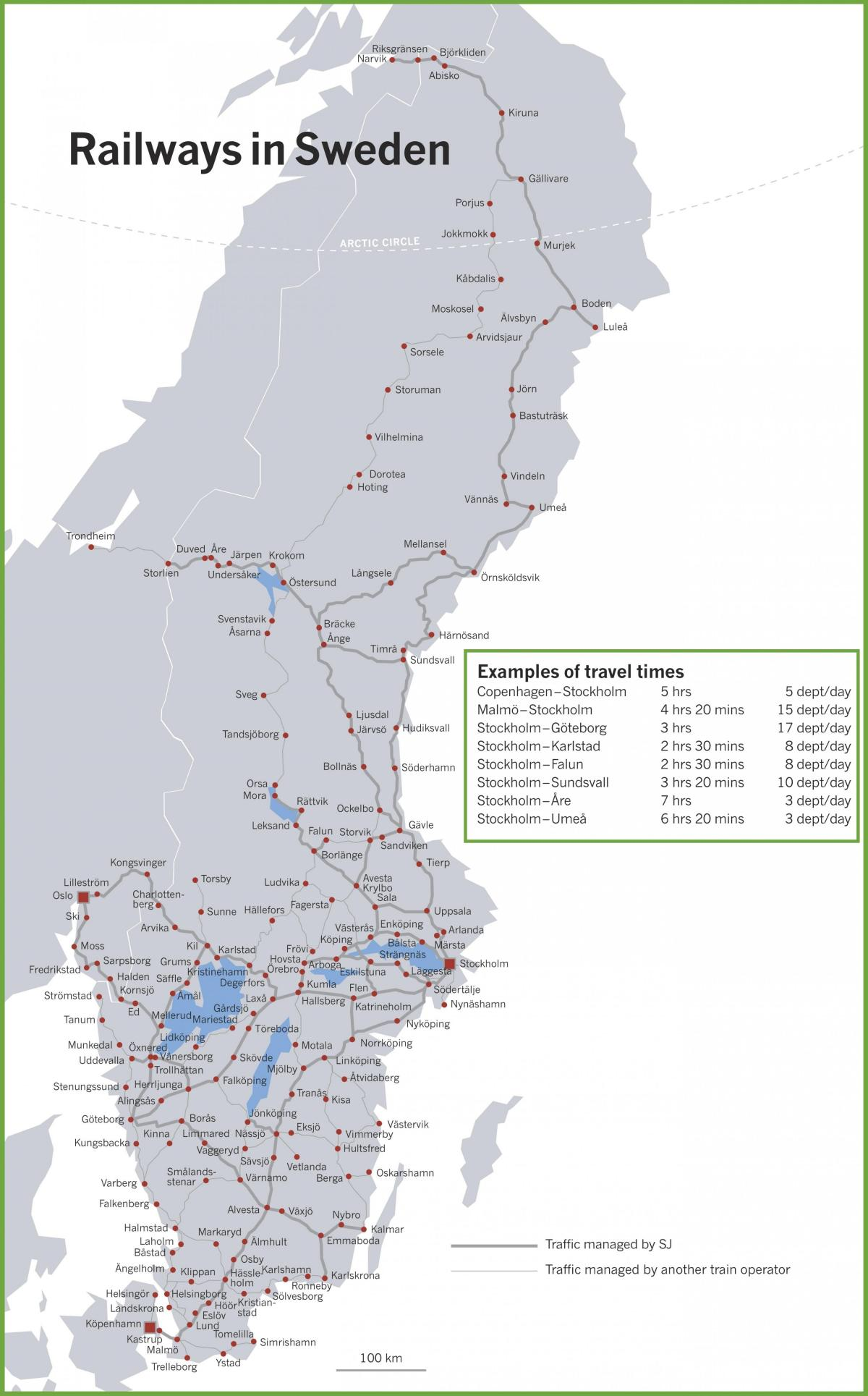 train map Sweden
