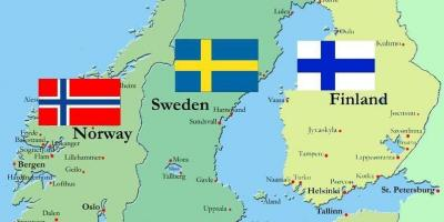 Sweden surround countries map