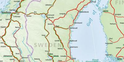 Sweden rail map - Rail map of Sweden (Northern Europe - Europe)