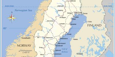 Map of Sweden transports