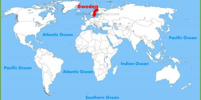 Sweden on world map